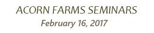Acorn Farms seminars